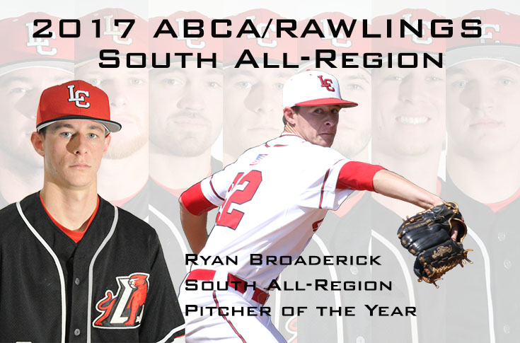 Baseball: Ryan Broaderick named ABCA/Rawlings South All-Region Pitcher of the Year