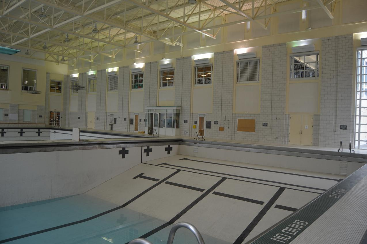 Pool Balcony And Locker Room Construction 2015 Carnegie Mellon University Athletics