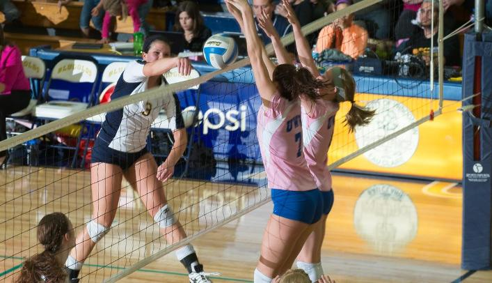 Volleyball Upsets Ranked Warhawks; Moves into Second Place in WIAC