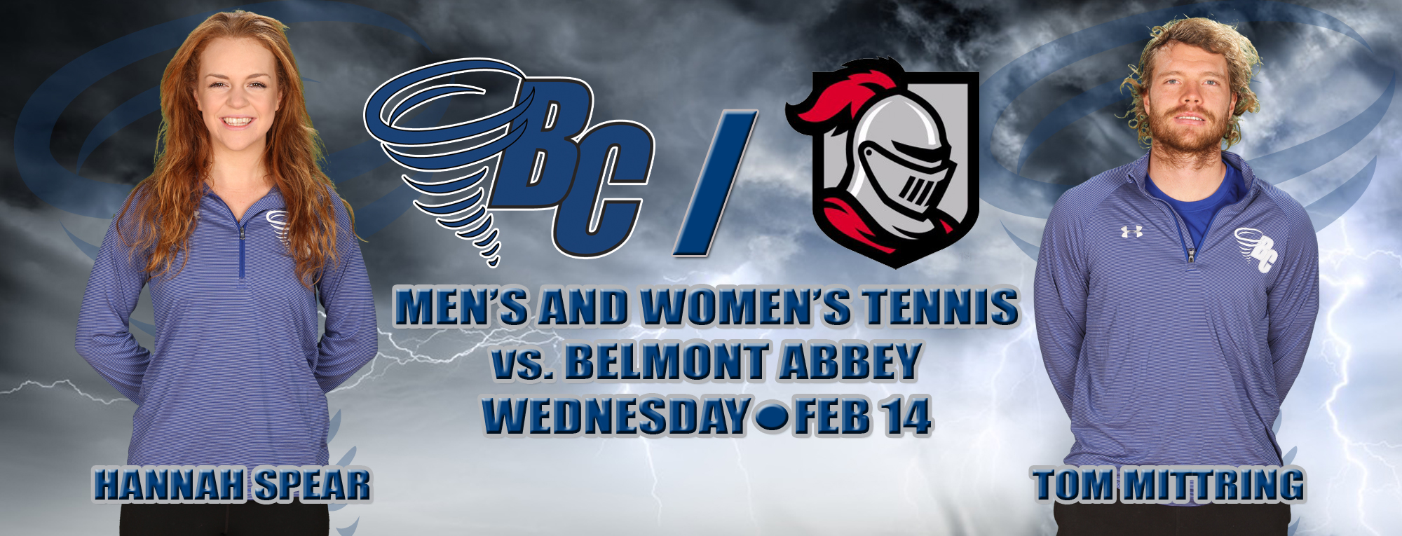 Brevard Tennis Set to Bounce Back Against Belmont Abbey