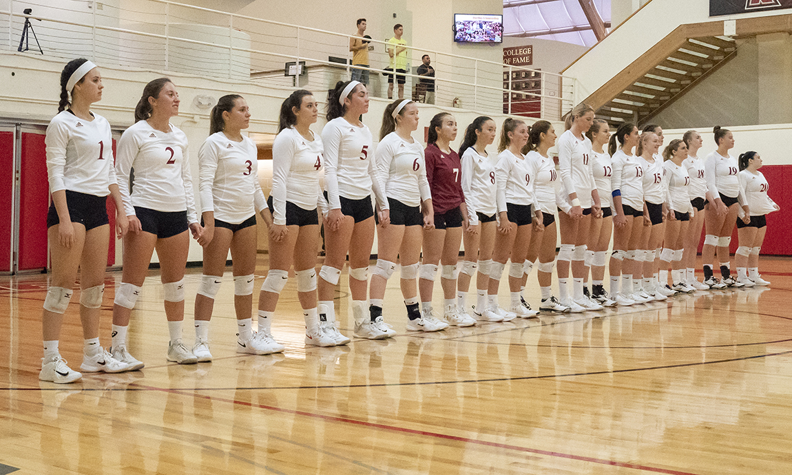 Regis Women's Volleyball Drops Two in GNAC Tri-Match