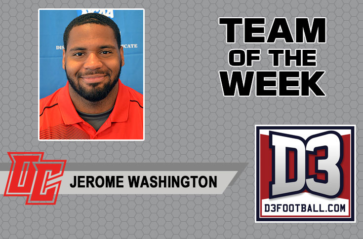 Olivet's Washington named to D3football.com Team of the Week
