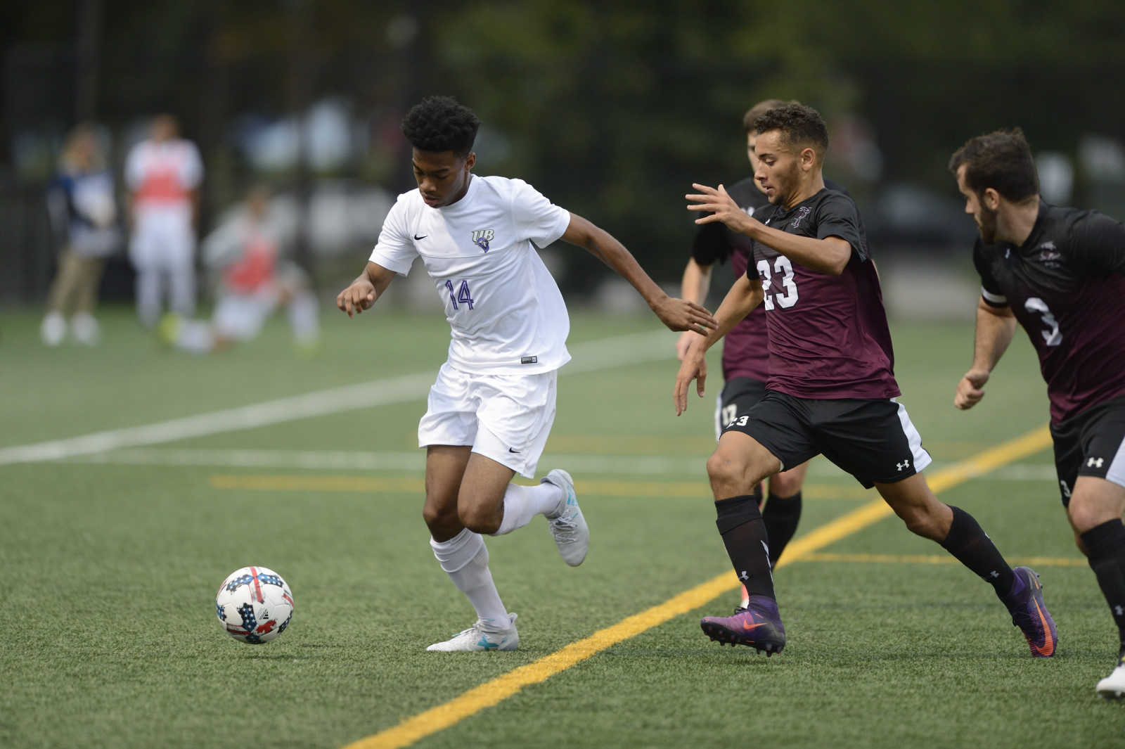 Purple Knights Play High-Scoring 4-4 Double Overtime ECC Men's Soccer Draw At Queens