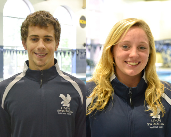 UMW's Anderson, Kerico Named CAC Swimmers of the Week