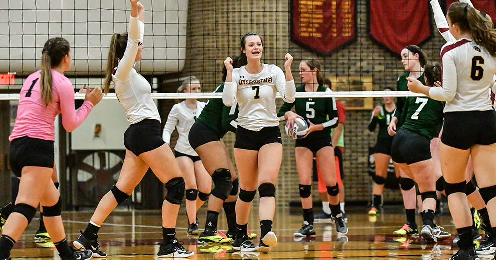 Volleyball Tops Marywood in Straight Sets