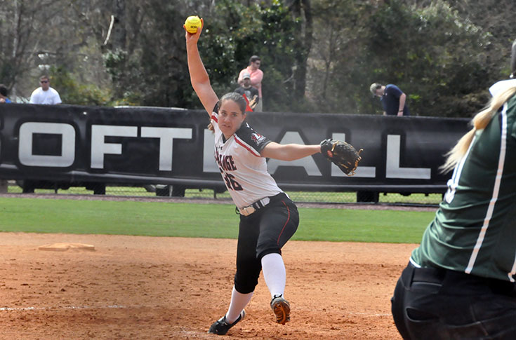 Softball: William Peace takes two 1-run games from Panthers in USA South doubleheader