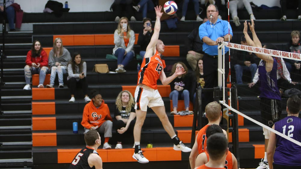 Men's volleyball attack led by Black in Friday split