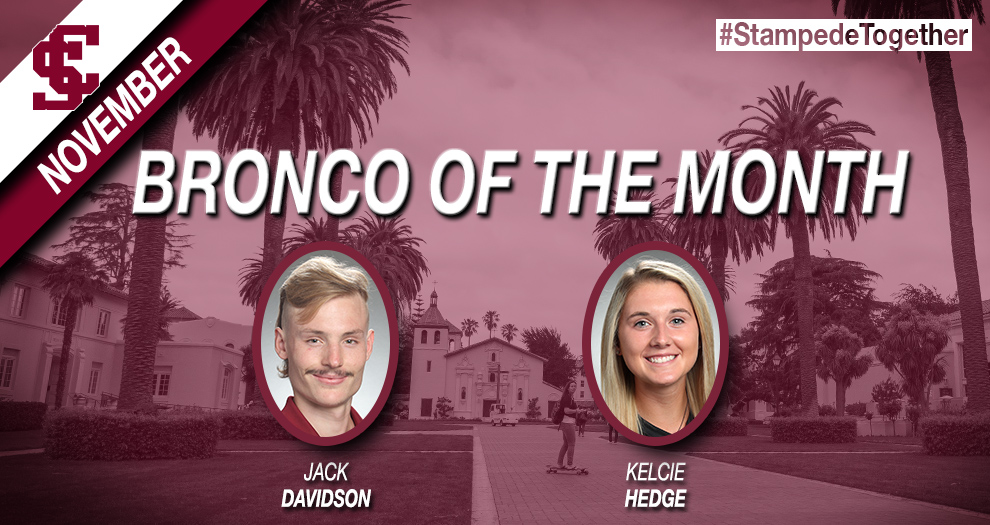 Hedge, Davidson Take Home November Bronco of the Month Honors