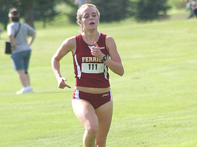 Ferris State women's cross country runner Tina Muir