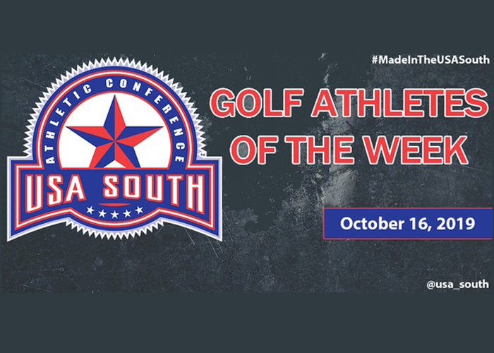 Mathers and Cox recognized with weekly USA South awards
