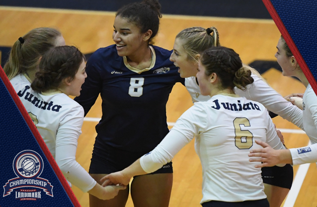 Juniata advances to Landmark Volleyball championship with 3-0 sweep over Elizabethtown