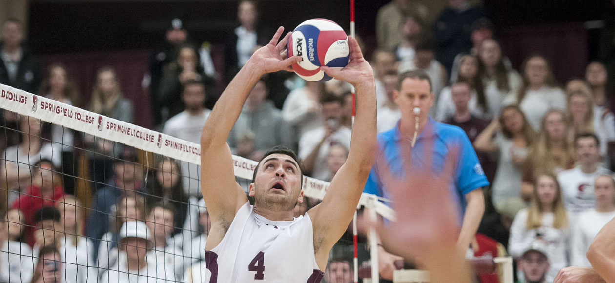 No. 1 Men's Volleyball Powers Past No. 5 Wentworth In Straight Sets