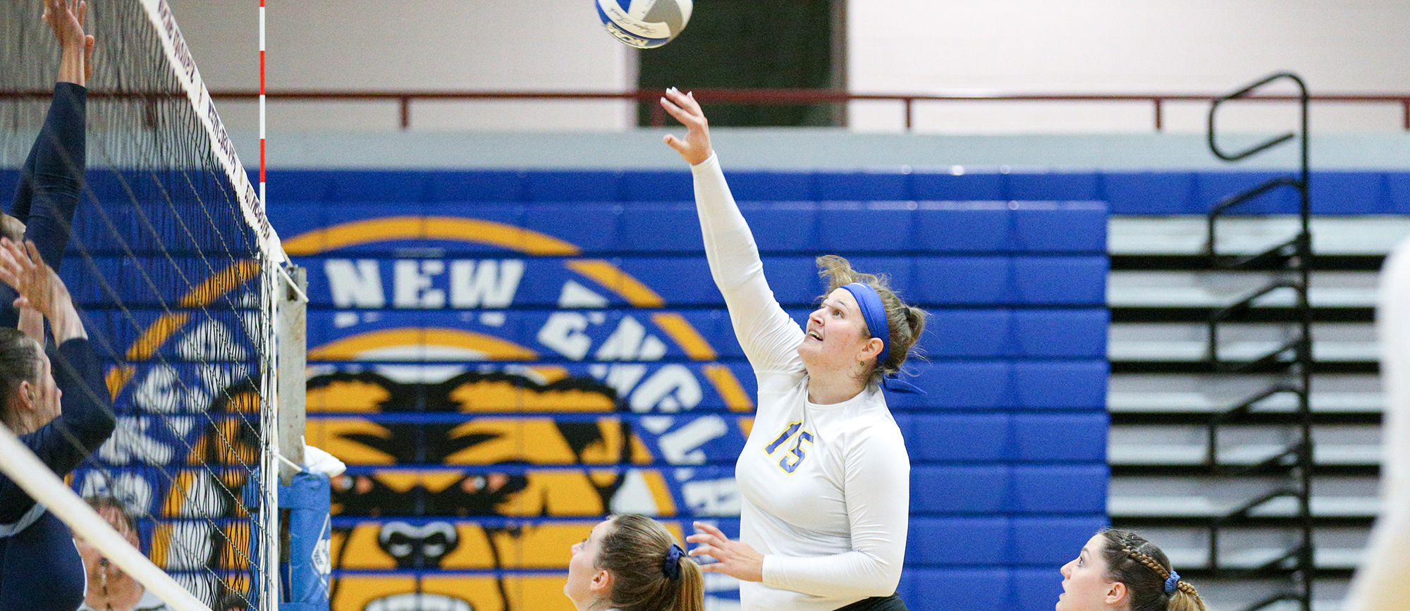 Sophomore Toni Fiore established a new career-high with ten kills in Western New England's 3-1 loss to Roger Williams on Saturday. (Photo by Chris Marion)