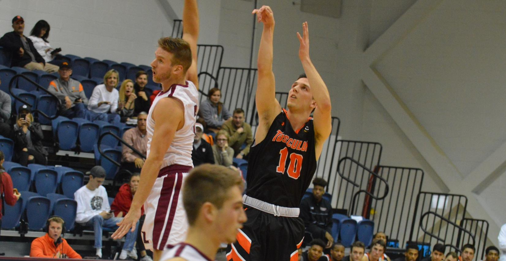 Woods scores career-high 28 in Tusculum loss at Lee