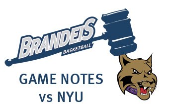 Brandeis basketball travels to NYU for UAA opener