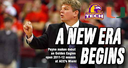 Payne to make head coaching debut as Golden Eagles open at Miami