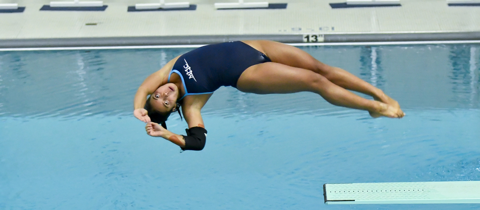 Action photo of Lyons diver, Samantha Nemivant