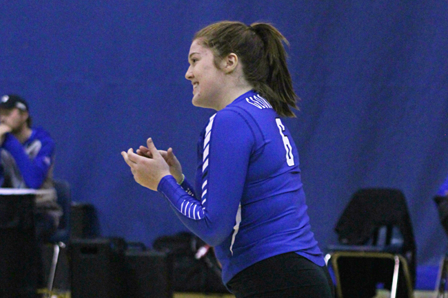 WOMEN'S VOLLEYBALL DOMINATE GEORGE BROWN