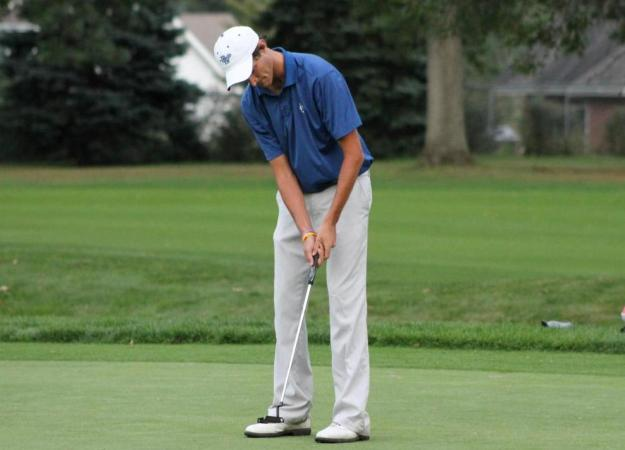 Men's Golf 8th After Day One at Adams Cup