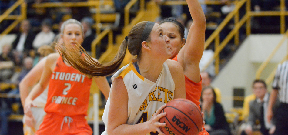 Sophomore forward Sydney Diedrich scored 11 points in BW's OAC Quarterfinal loss to Ohio Northern