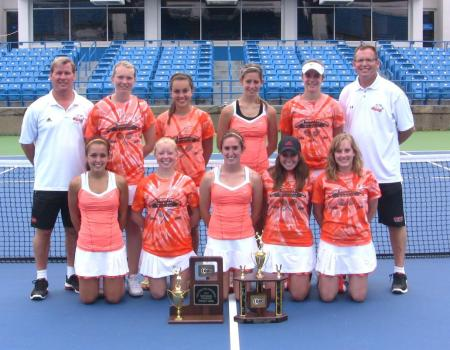 Top-seeded Women's Tennis win 2012 OAC Tournament with 5-2 win over JCU
