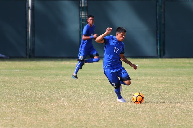 Bryan Ortega scored the Falcons lone goal in their 2-1 loss