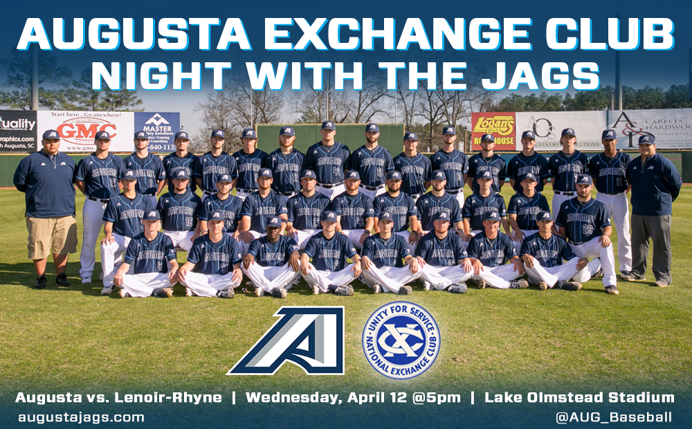 Jags Baseball Hosts Augusta Exchange Club Night April 12