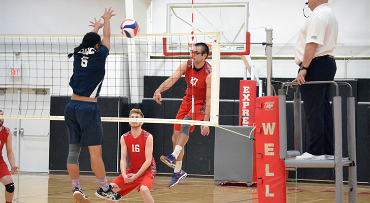 Men's Volleyball Goes The Distance vs. Daniel Webster