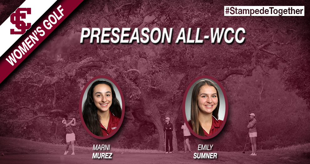 Two Women's Golfers Voted Preseason All-WCC