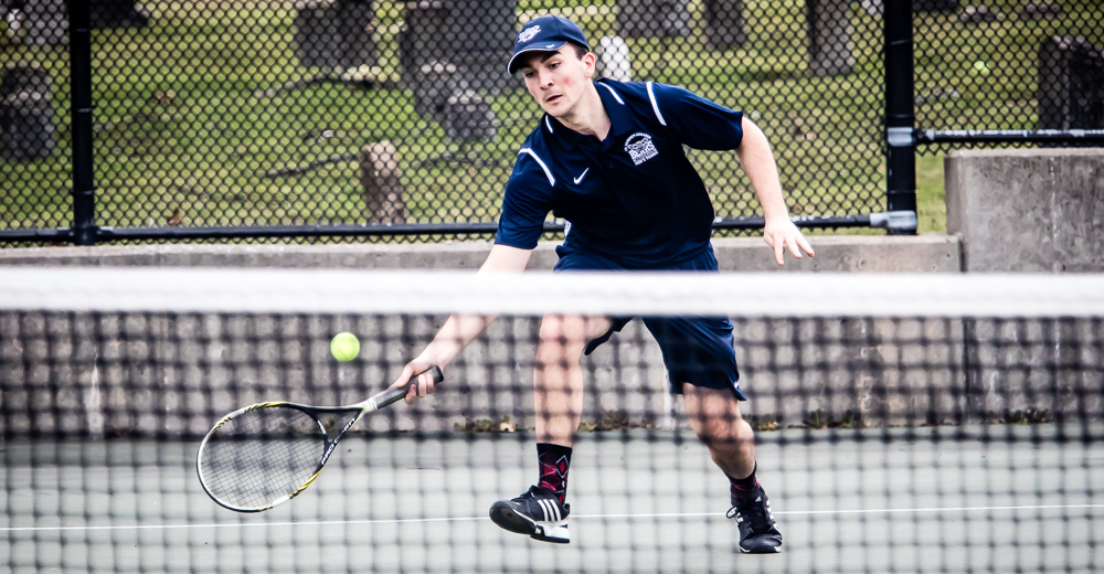 Men's Tennis Hosts Purchase in League Affair