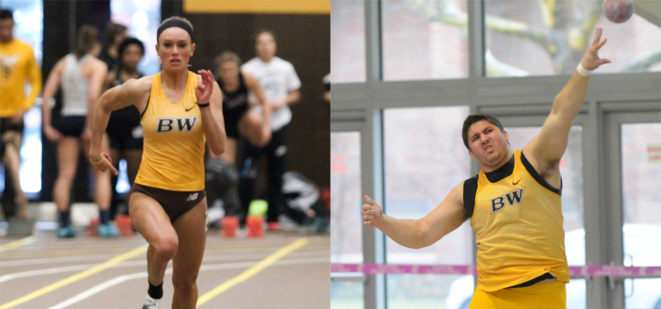 Senior All-OAC sprinter Grace Nemeth and junior All-OAC thrower Ted Achladis