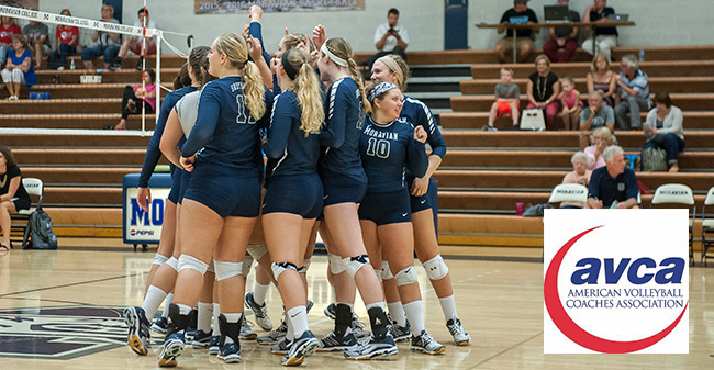 Women's Volleyball Squad Earns Another AVCA Team Academic Award