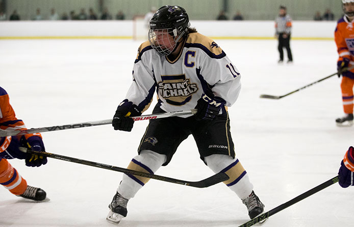 Purple Knights Wrap Up Trader Duke's Ice Hockey Classic with 4-1 Loss