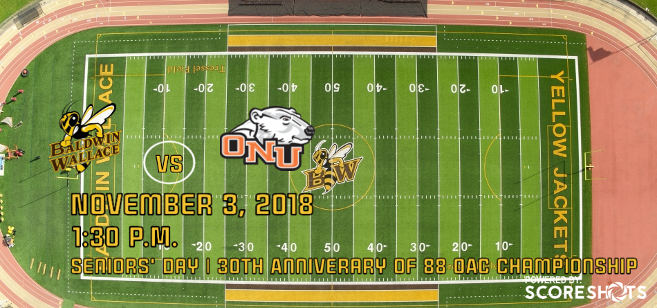 Football Closes Out Home Schedule vs. Ohio Northern on Seniors' Day and 30th Anniversary of 1988 OAC Championship