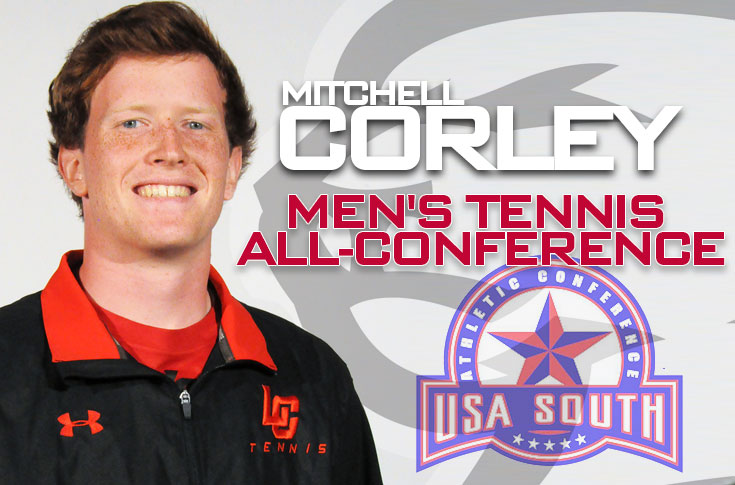 Men's Tennis: Mitchell Corley selected to USA South All-Conference team