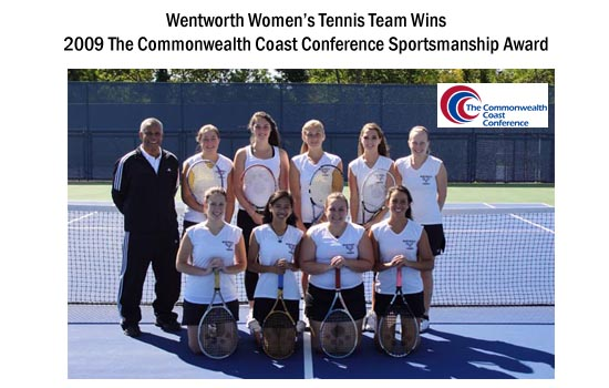 Wentworth Women's Tennis Team Earns TCCC Sportsmanship Award