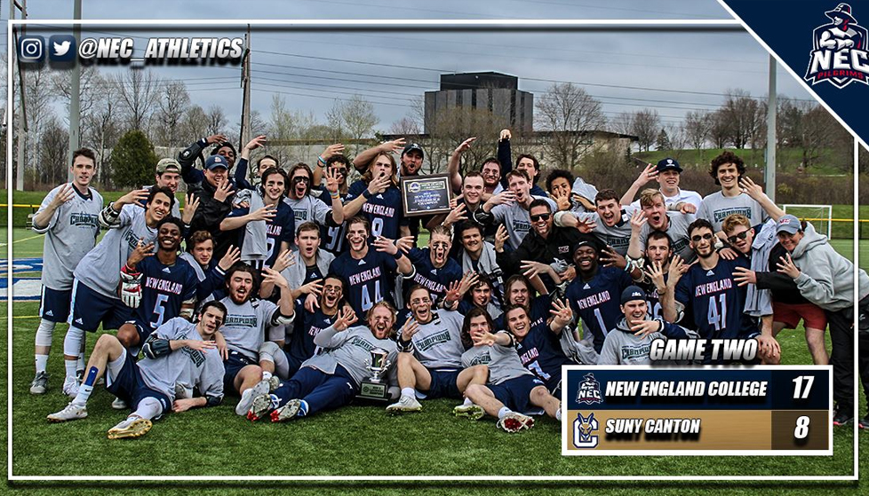 New England College Defeats SUNY Canton in NECC/NAC Championship Alliance