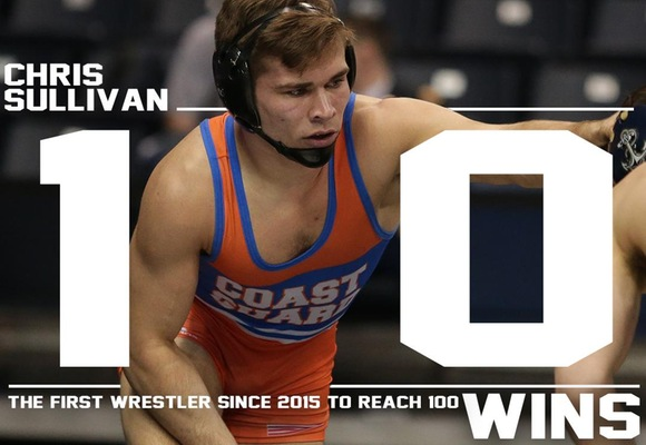 Sullivan Records 100th Win as Five Wrestlers Move on at Northeast Regional