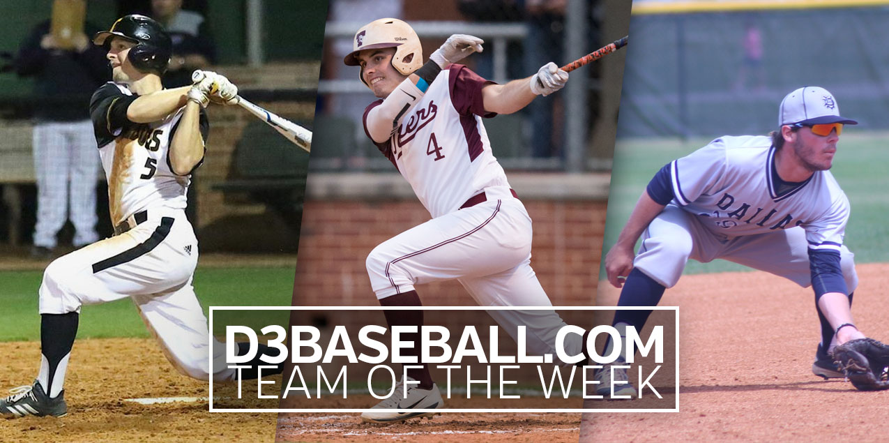 Three SCAC Baseball Players Named to D3Baseball.com Team of the Week
