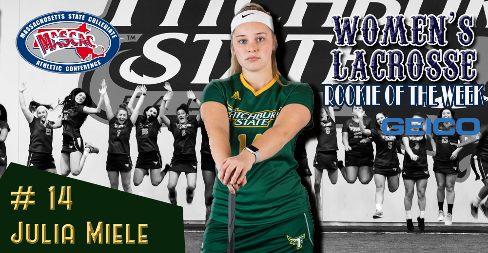 Miele Earns MASCAC Women's Lacrosse Rookie Of The Week Honors