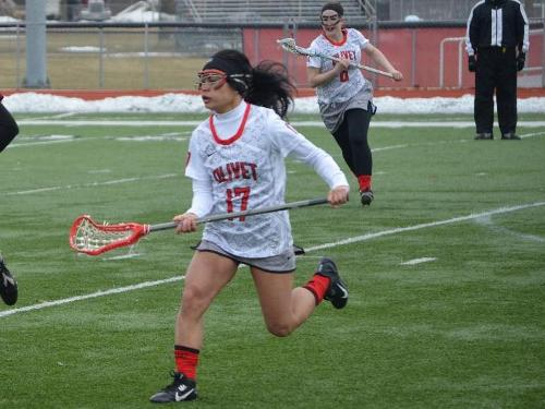 Women's lacrosse team outscores Hope in second half, but loses 12-8