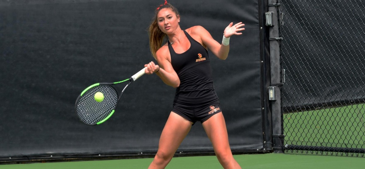 Catherine Allen stayed undefeated in dual matches in singles this season with a 6-1, 6-0 win at No. 1
