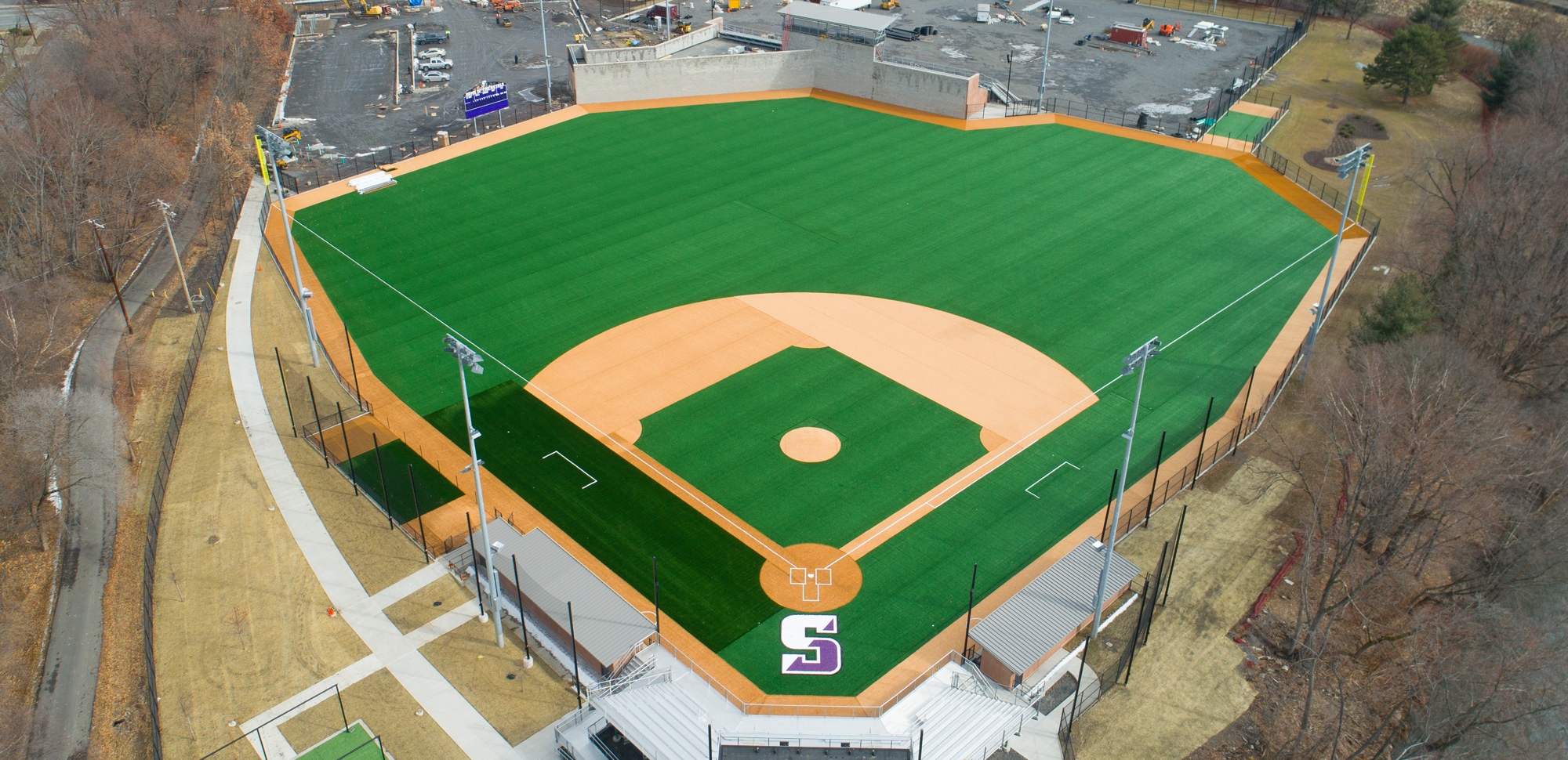 Turf Installed On Baseball Field In Latest Work At The Kevin P. Quinn S.J. Athletics Campus