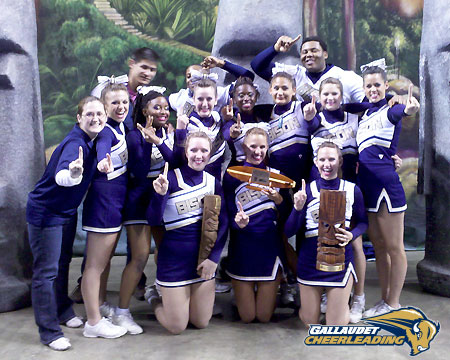Gallaudet cheerleading wins three awards at Moai Madness competition at Temple University