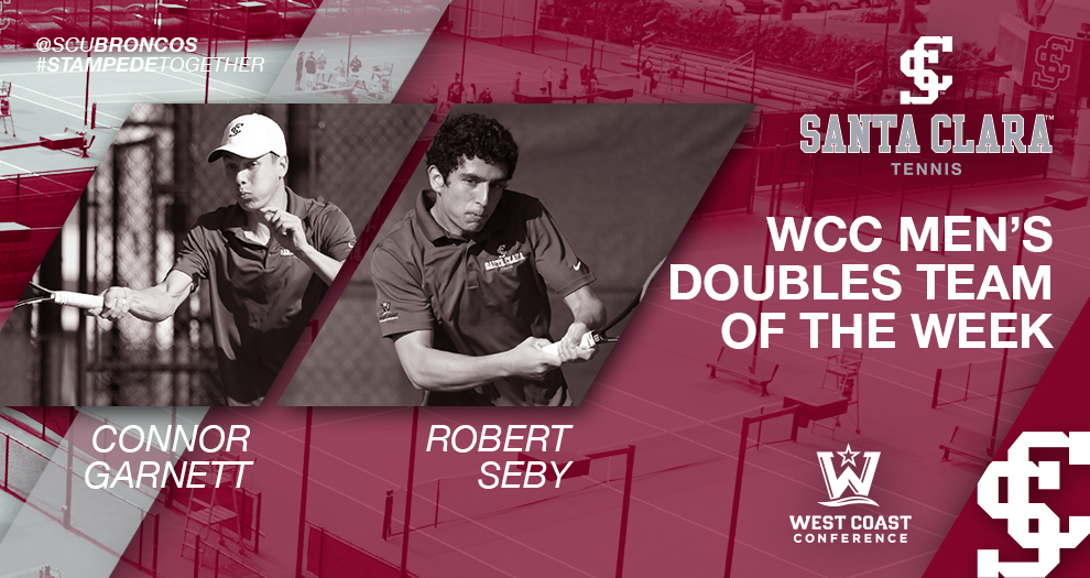 Men's Tennis' Garnett and Seby Named WCC Doubles Team of the Week