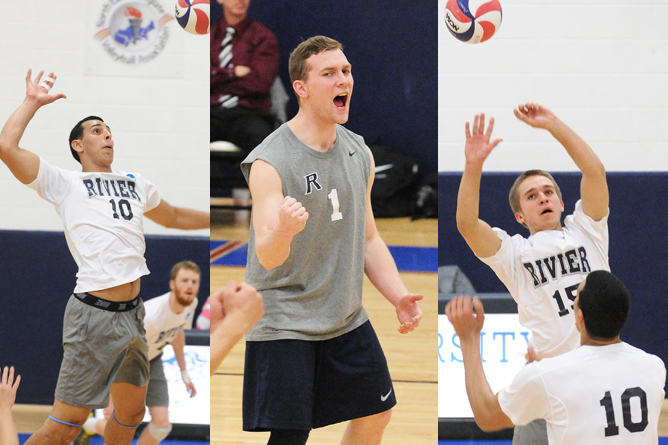 Rivier Men's Volleyball sweeps GNAC Season Awards, places 6 on All-Conference team