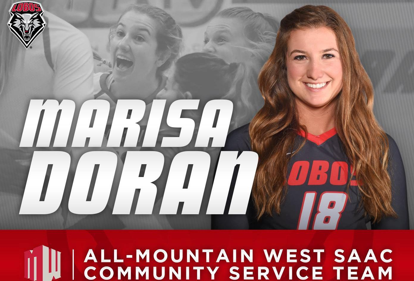 Former volleyball star Marisa Doran honored at New Mexico