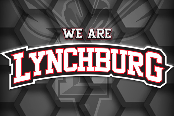 We Are Lynchburg with Hornet logo in background
