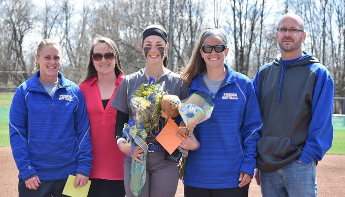 Zoe Derr and her family as she celebrated Senior Day