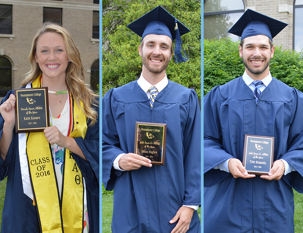 Koonce, Branneky and Hughes Named Westminster Senior Athletes of the Year